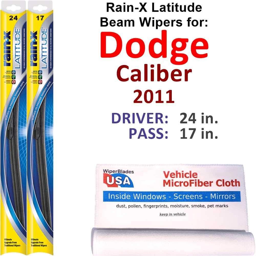 Limited price sale Rain-X Latitude Beam Wiper Blades for Set Dodge Rai 2011 Caliber Mail order cheap