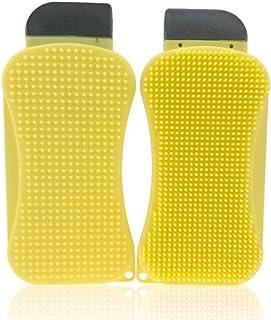 Esponja La cocina cepillo multifunción de limpieza de silicona, raspador de cepillo de limpieza de platos de cocina y herramientas de limpieza de escobilla de goma reutilizables (2 pcs)