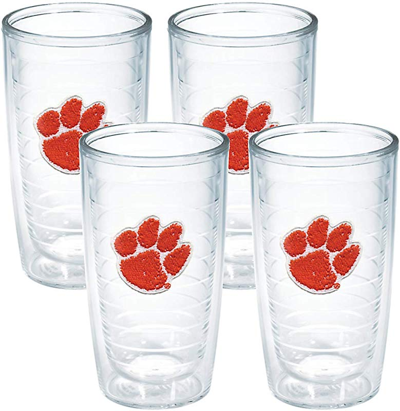 Tervis Tumbler Clemson University 16 Ounce Double Wall Insulated Tumbler Set Of 4 1008023
