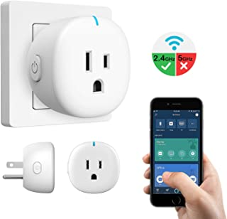 MoKo Wifi Smart Plug, Mini Wifi Outlet Mini Socket Work with Alexa Echo, Google Home & IFTTT, App Remote Control Home Appliances, 10A, Only Supports 2.4GHz Network No Hub Required, White