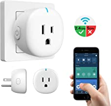 MoKo WiFi Smart Plug, Mini WiFi Outlet Mini Socket Compatible with Alexa Echo, Google Home & IFTTT, Smart Life App Remote Control Home Appliances, 10A, No Hub Required, White