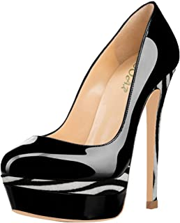 AOOAR Women's Double Platform High Heel Pumps