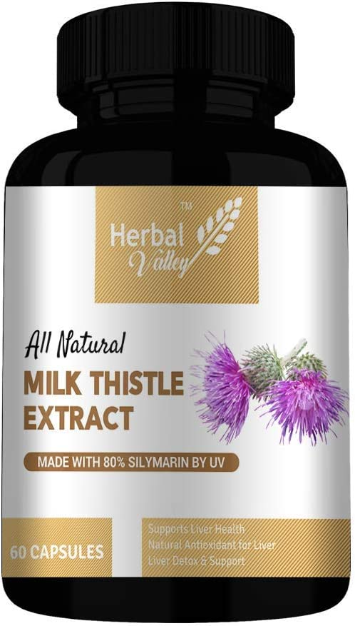 A.I.M.HerbalValley Milk Thistle Max 82% OFF Silymarin Sup price Marianum Liver