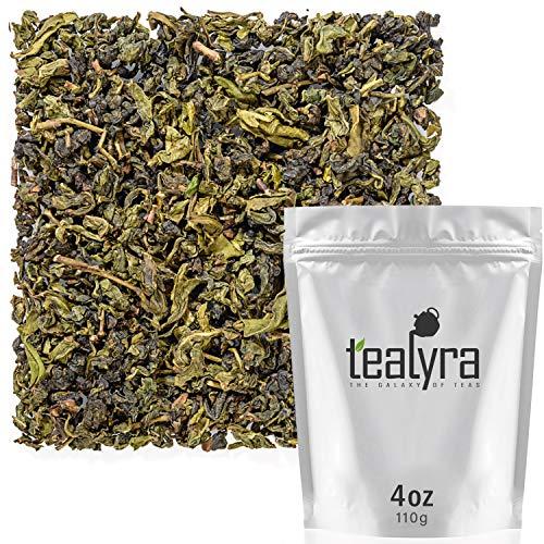 Tealyra - Huang Shan Bao Zhong - Taiwanese Oolong Tea - Great Green Oolong Loose Leaf Tea - Organically Grown - 110g (4-ounce)