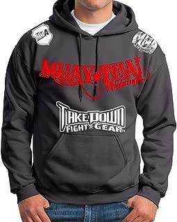 Muay Thai Fighting Jiu Jitsu Stryker Fight Gear Hoodie Jacket Jumper MMA UFC W * (2XL, Gray)