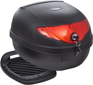 vidaXL Maletero Baúl para Guardar Casco Motos 36 L Negro Equipaje Motocicleta