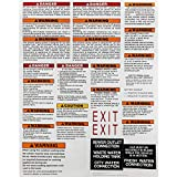 RecPro RV Safety Sticker Sheet | RVIA Compliant | Meets CSA Requirements