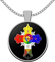 thelemaaccessories Esoteric Necklace - Rosicrucian Order lamen Symbol - Rose Cross Image Pendant - Occult Gift Amulet