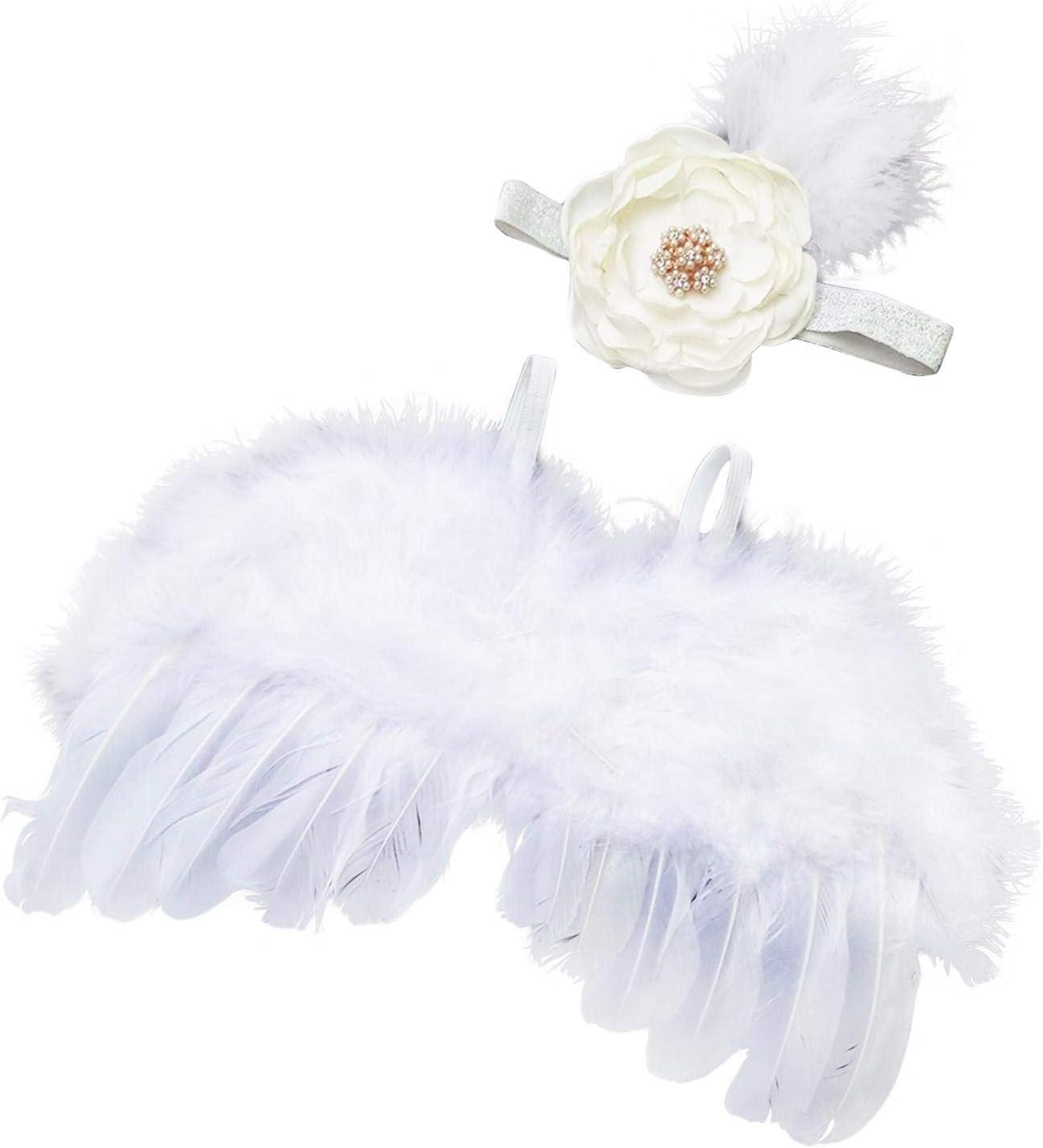 depot NSVJVY Newborn Photography Angel Wings Baby security Gi w Flower Headband