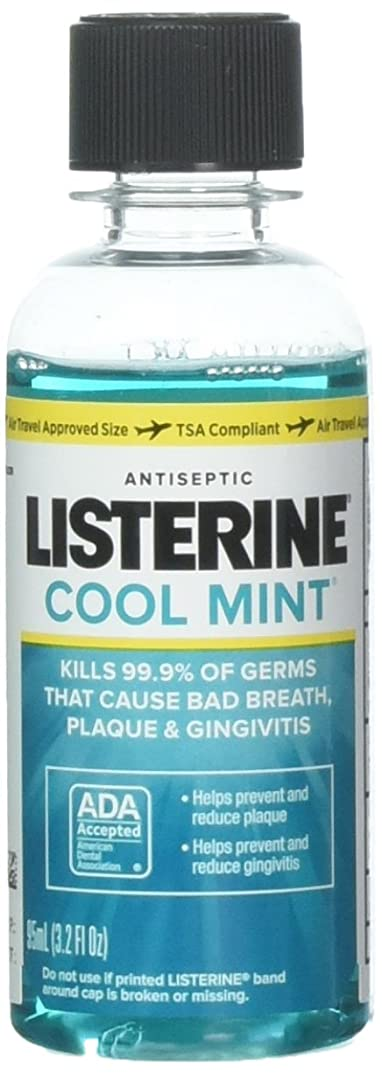 退屈ピービッシュ特異なListerine Antiseptic Mouthwash, Cool Mint 3.2 oz (Pack of 10) by Listerine
