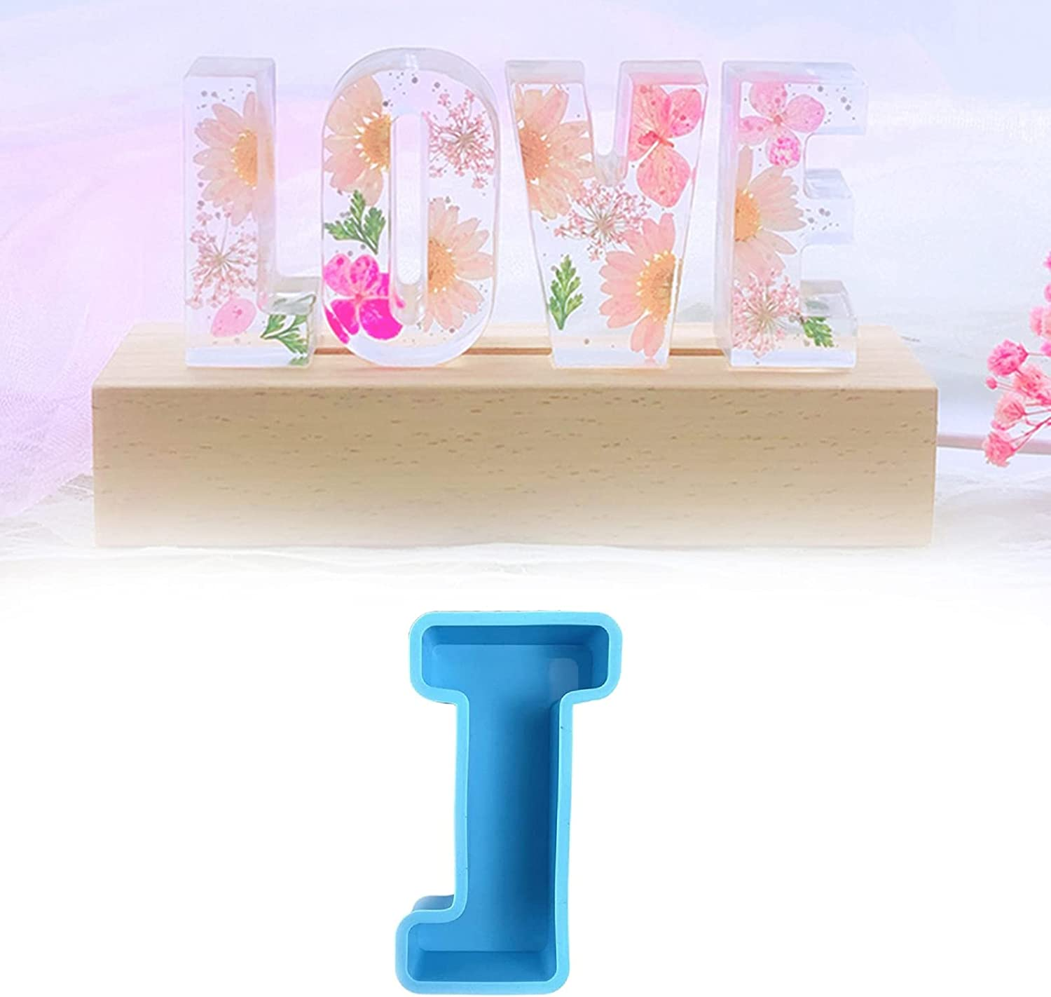 Max 45% OFF Large Same day shipping Alphabet Epoxy Resin Mould Mold English Silicone 3D Letter