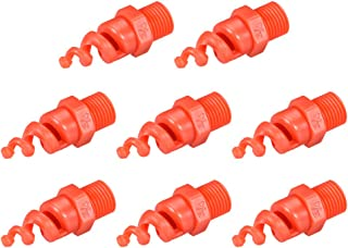 uxcell Spiral Cone Atomization Nozzle, 1/4BSPF PP Sprinkler, 8 Pcs