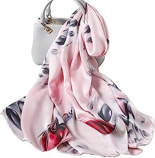 LumiSyne Bufanda De Seda Mujer Fulares Estampada Vintage Estilo Moda Chal Cuadrado Grande Estolas Protector Solar Pa/ñuelo Bufanda De Cuello Toda La Temporada