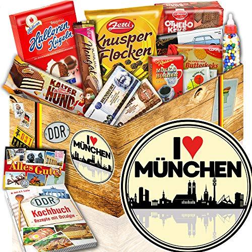 I love München + DDR Geschenkkorb + München Geschenke für Männer