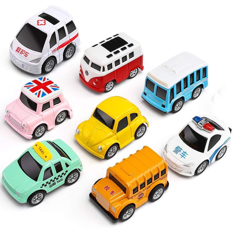 子供の赤ちゃんの赤ちゃん合金慣性引き戻す車のおもちゃの車セット1  -  3歳の慣性車の赤ちゃんの車を落ちる男の子抵抗