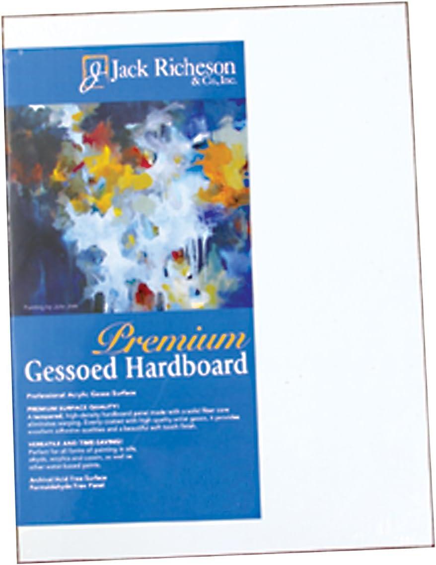 Jack Richeson 1 8-Inch Premium Max 65% OFF Hardboard Panel Low price Gessoed Tempered