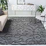 gray area rug with pretty pattern