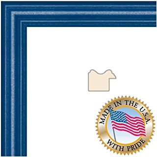 10x10 Blue Stain on Red Leaf Maple Picture Frame - 1'' Wide with Regular Glass and Foam Backing