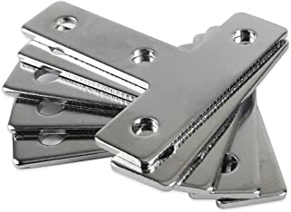 BCZAMD 60mmx60mm Flat T Shape Brackets, Carbon Steel T-Type Connection Angle Plate Corner Braces Repair Mending Plate Joining Bracket for 2020 Aluminum Extrusion Profile with 4 Holes, 5Pcs