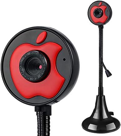 Electz Webcam Full HD per videochiamate Widescreen con Microfono a riduzione del Rumore, videocamera PC Skype, Registrazione per Computer Desktop, Fotocamera USB Plug And Play per Youtube,Red - Trova i prezzi più bassi