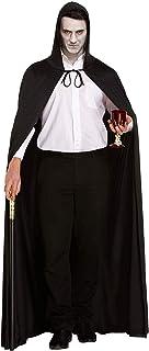 byou Halloween cape, uniseks cape met capuchon, lange zwarte cape voor cosplay Halloween kostuum