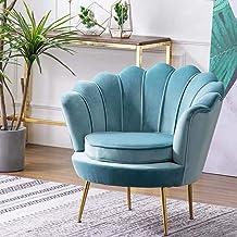 Armchair Lounge Chair Single Sofa Chair Modern Bedroom Living Room Clothing Beauty Shop Gold Velvet Chair 55 * 78Cm,Green