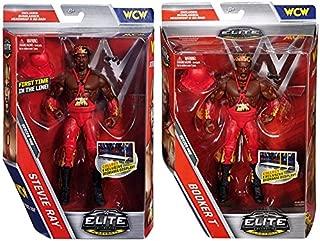 WWE PACKAGE DEAL Booker T & Stevie Ray (Harlem Heat) Elite 46 Mattel Toy Wrestling Action Figures