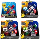 zzyou 4 Unids / Set Pokemon Pikachu Pokeball Cinturón Figura De Acción En Caja Modelo Niños Juguete Regalo 4 Cm