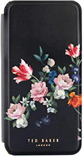Ted Baker SSABINA Mirror Folio Case for iPhone XR - Sandalwood/Black Silver