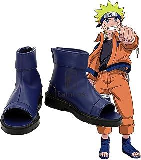 WSJDE Anime Naruto Akatsuki Nanja Cosplay Zapatos Uzumaki Sakura Sasuke Kakashi Negro Azul Sandalias por Encargo 46 Azul