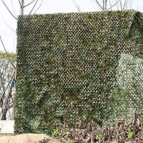 KEANCH Redes de persianas de Camuflaje Grandes, Camo Net Shuthing Net Oxford Tela Camo Netting, para Camping Al Aire Libre Red De Tiro(Size:5×7m,Color:A)
