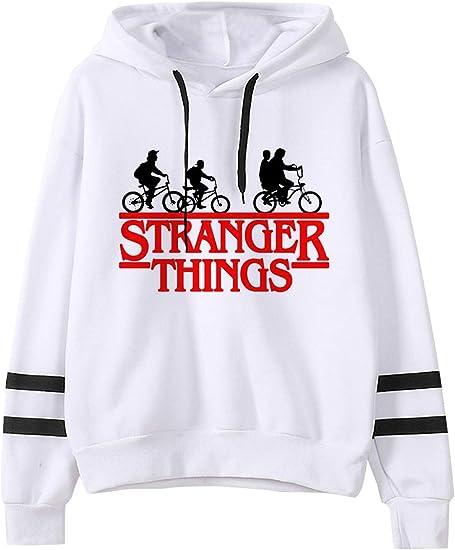 VERROL Sudadera Stranger Things para niña, Sudadera con Capucha de Stranger Things con Estampado de Letras, Sudadera Stranger Things Temporada 3, ...