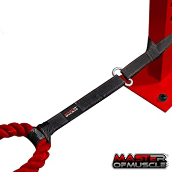 Master of Muscle Battle Rope Anchor Strap Kit - Exercise Training Accessories for Ropes - Easy Setup Station in Home ...
