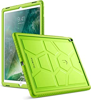 Poetic TurtleSkin iPad Pro 12.9 Rugged Case Heavy Duty Protection Silicone Sound-Amplification for Apple iPad Pro 12.9 (1st Gen 2015) / iPad Pro 12.9 (2nd Gen 2017) Green