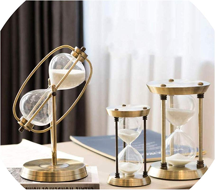 15 30 60 Minutes Hourglass Sand Timer For Kitchen School Iron Hour Glass Sandglass Sand Clock Tea Timers Home Decoration Gift 30Min