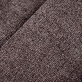 Deshome Roma - Tessuto al Metro Idrorepellente h 140 cm per divani, cuscini, complementi d'arredo (Marrone cioccolata, 1 metro)