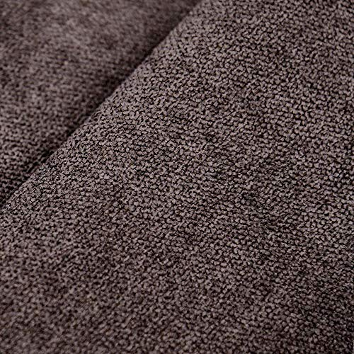 DESHOME Roma - Tessuto al Metro Idrorepellente Stoffa per divani, cuscini, tappezzeria, arredo (Marrone cioccolata, 1 metro)