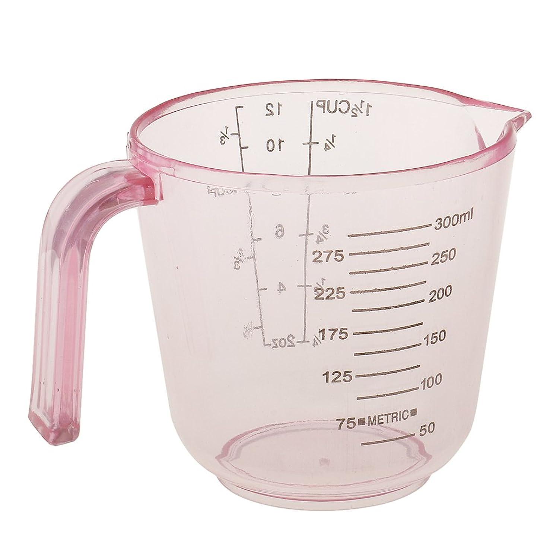 ハードリング経度静的Perfeclan 髪染めカップ 計量カップ 測定カップ ヘアカラー ヘアサロン 再使用可能 軽量 全3カラー - ピンク