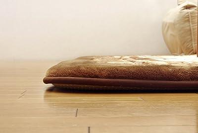 イケヒコ ラグ カーペット 大判 長方形 シャルマン F敷 ブラウン 約195×295cm ボリューム #5968649