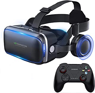 3D VR Gafas de Realidad Virtual, Gafas VR para Juegos Visión Panorámico 3D Juego Immersivo para iPh X/7/6s 6/Plus, Galaxy ...