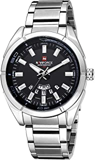NAVIFORCE 3ATM Water Resistant Mans Business Watch Stainless Steel Band with Date Week Function
