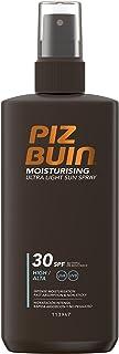 Piz Buin Moisturising Zonnespray met SPF 30, watervaste zonnebescherming, snel intrekkend, 200 ml