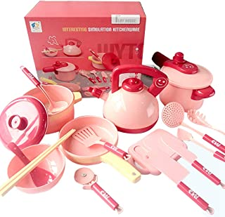 Coxeer Cooking Toy Set Novelty Cookware Set Toy Assorted Kitchen Toy for Children