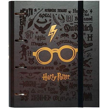 Erik - Classeur A4 4 Anneaux - Harry Potter | Classeur Rigide | Fournitures Scolaires, Fournitures de Bureau