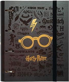 Erik® - Classeur Rigide, 4 anneaux, Harry Potter | Format A4