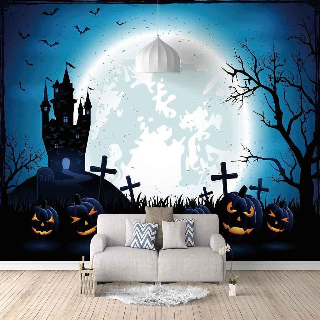 FVGKYS Mural Wallpaper 3D Halloween Custom Overseas parallel import regular sale item Castle Livin Painting