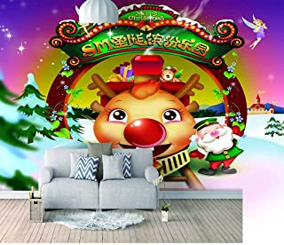 VITICP Adults Kids Wall Stickers Decals Peel and Stick Removable Wallpaper Christmas Cartoon Fawn for Nursery Bedroom Livi...