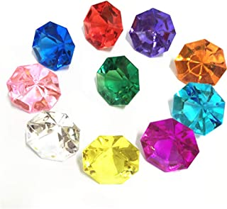 Assorted Pirate Gems Acrylic Colorful Round Treasure Gemstones for Table Scatter, Vase Fillers, Event, Wedding, Arts & Crafts, Birthday Decorations Favor (12 Pieces-20MM)