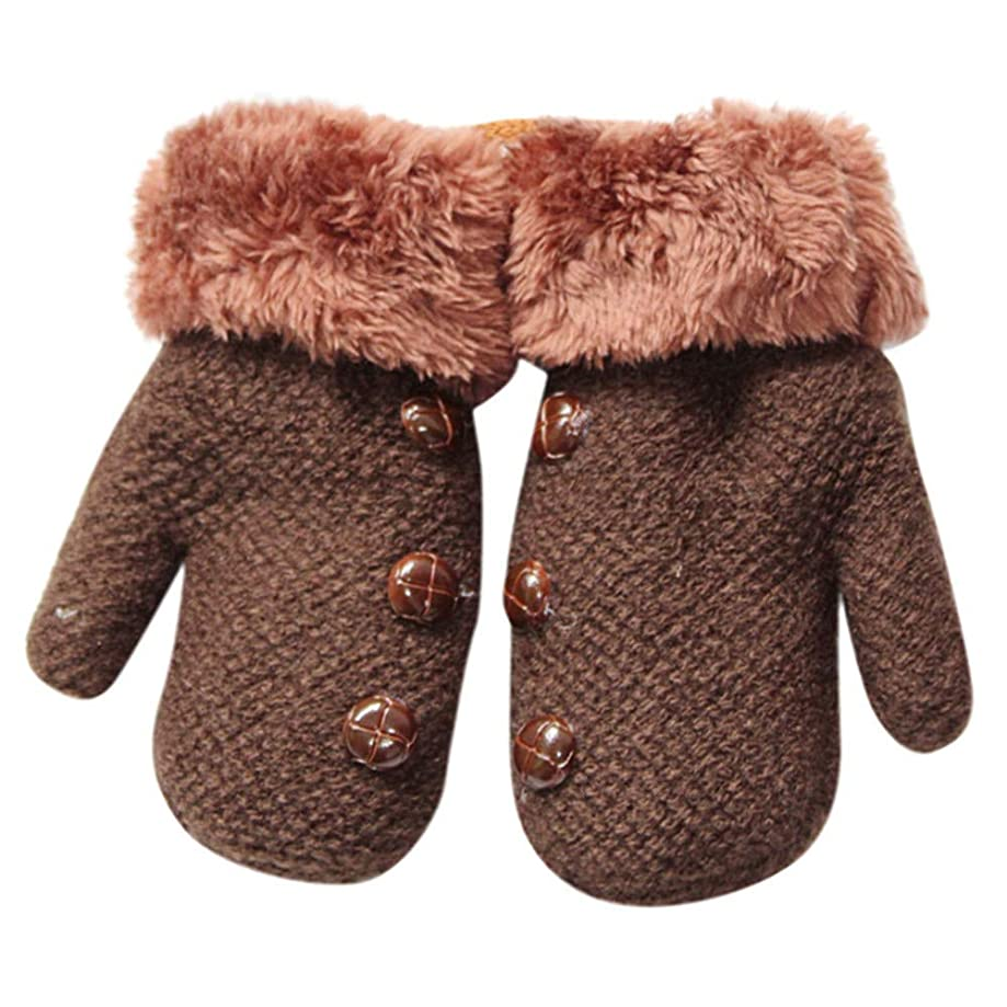 SMALLE ??? Clearance,Toddler Baby Thicken Girls Boys Rope Full Finger Warm Knitted Mittens Gloves
