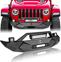 Hunter BLADE Front Bumper w/Winch Plate & 72W Light Bar & 2X 18W Spotlights & License plate bracket for 2007-2019 Jeep Wrangler JK JKU JL